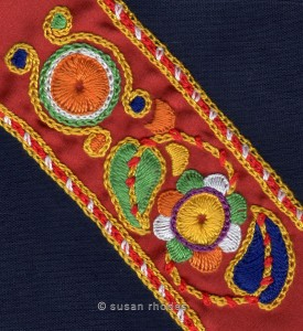 Motif from Glazig embroidery
