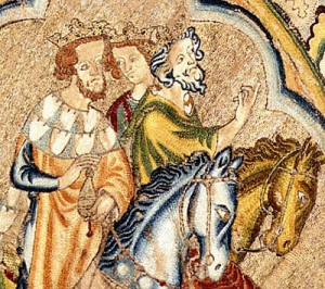 Detail of bologna cope, three kings