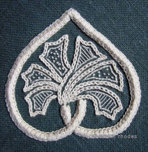 Embroidered Parma motif