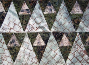 pieced triangles