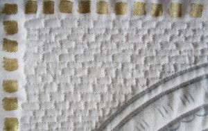 quilting on wall hanging