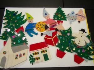 christmas felt figures